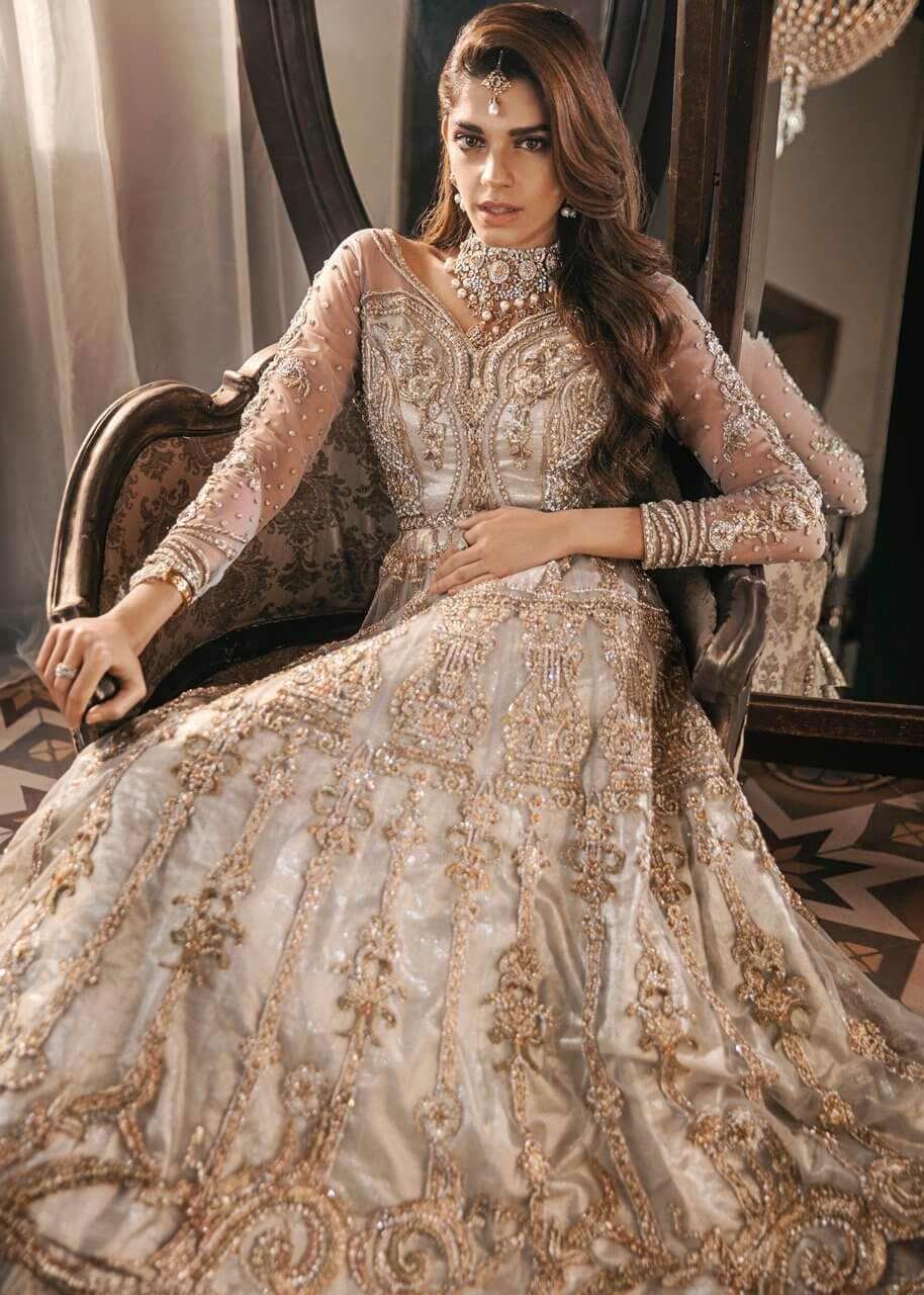 SFK Bridals Online Gold and Silver Bridal Dress