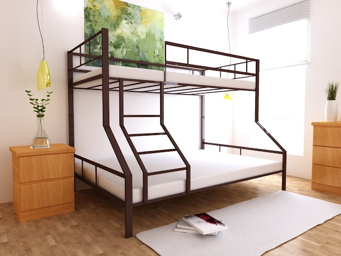 Кровать  двухъярусная металлическая Тея  80х190/200-120х190/200 ТМ MegaOpt