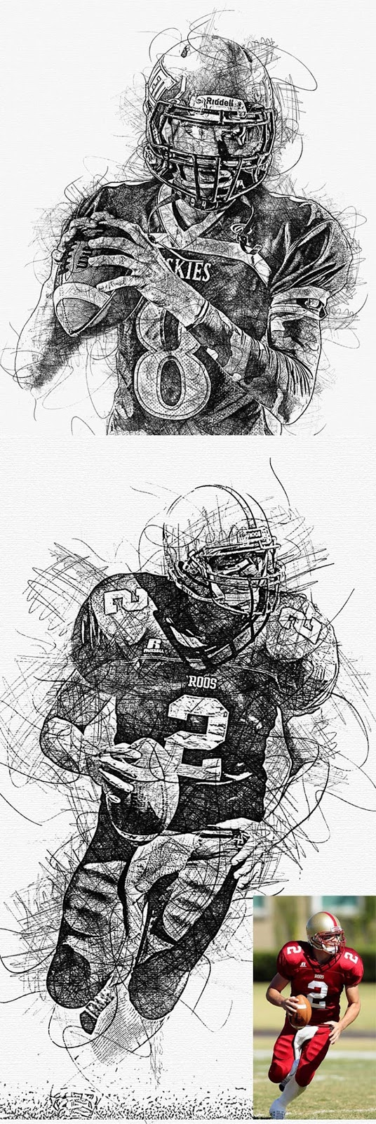 Hand Drawn Photoshop Action 26442003 Free