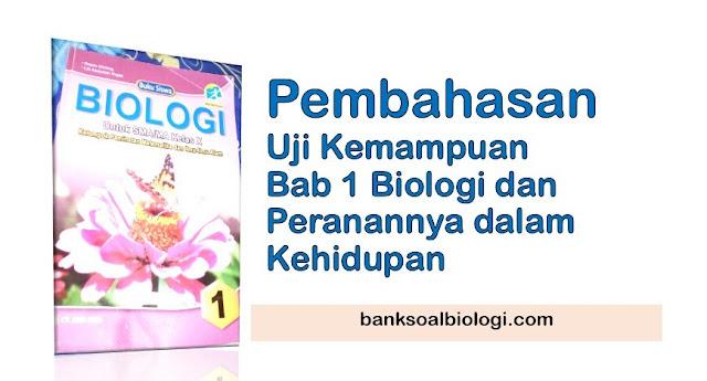 Pembahasan Uji Kemampuan Biologi Kelas X Bab 1 Biologi dan Peranannya dalam Kehidupan, Buku CV Arya Duta Penulis Robin Ginting dan Lili Abdullah Rojak