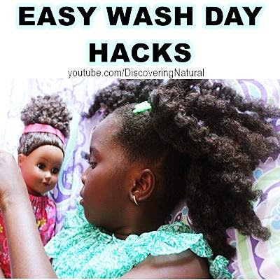 EASY NATURAL HAIR KIDS WASH DAY ROUTINE HACKS
