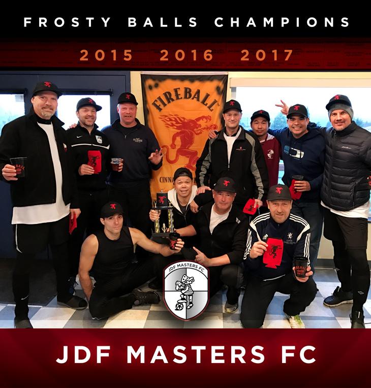 JDF Masters FC - Frosty Balls Tournament Champions 2015, 2016, 2017