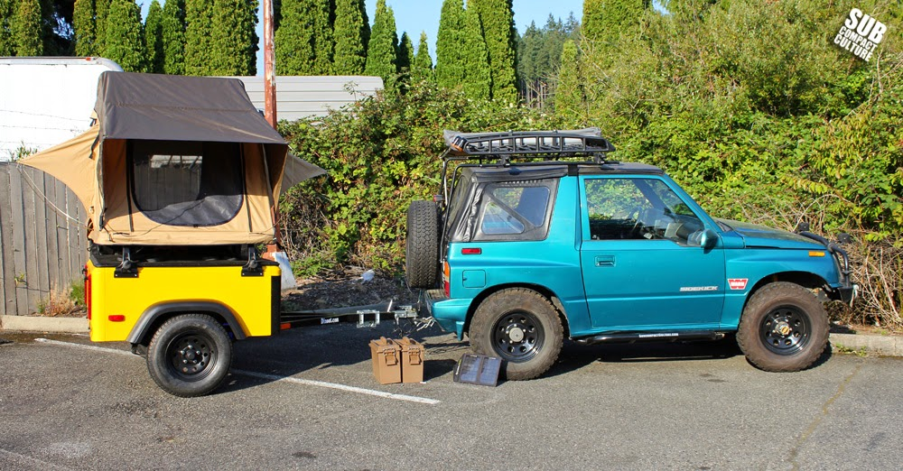 The Teal Terror with new Dinoot trailer and CVT rooftop tent