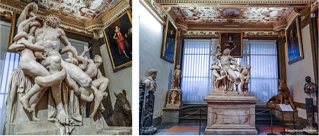 """Hércules e Nesso, escultura romana na Galleria degli Uffizi, Florença"