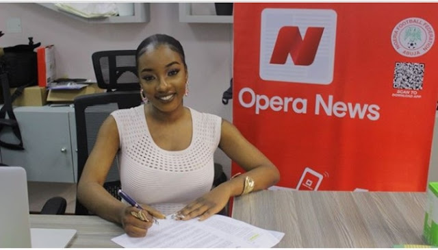 Ex BBNaija Housemate, Avala Becomes Opera News Brand Ambassador (Photos)