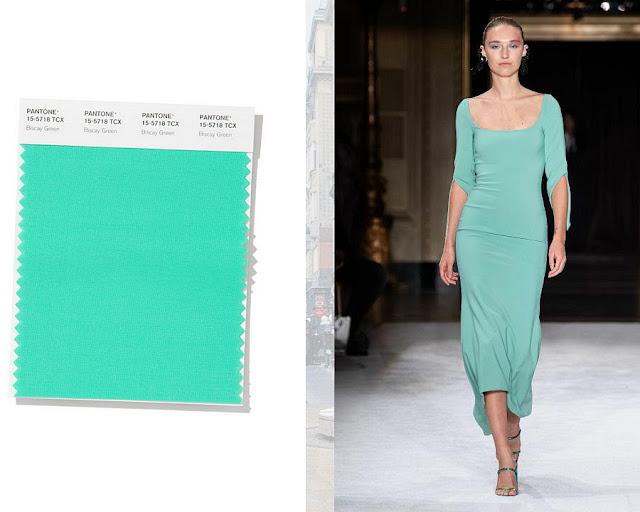 Бискайский зеленый модные цвета весна-лето 2020 1