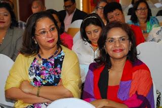 Las magistradas del Tribunal de Apelaciones de Managua, Dras. Adda Benicia Vanegas Ramos (Vicepresidenta) y Maribel Mena Maldonado, durante la presentación del Manual
