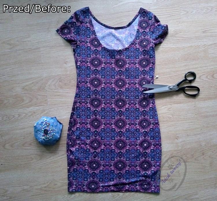 Jak uszyć komplet spódniczka i top DIY Przeróbka sukienki - Adzik tworzy