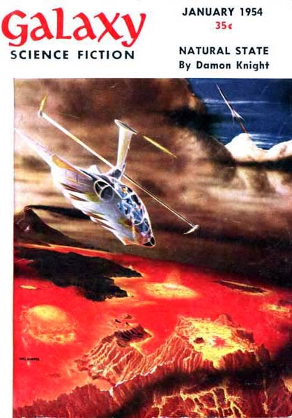 Magazine Cover: Galaxy Science Fiction January 1954