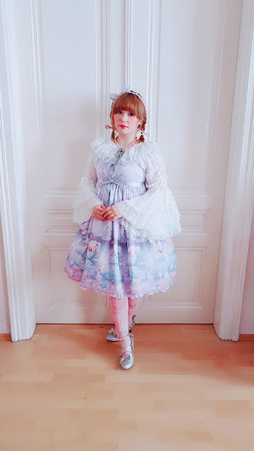 angelic pretty, lolita fashion, auris lothol, milky swan, jsk, kawaii, pastel, japanese fashion