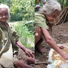 Kisah Pilu Nenek Tua Tinggal Sebatang Kara Cuma Bisa Makan Sisa Tiwul Singkong Jemur