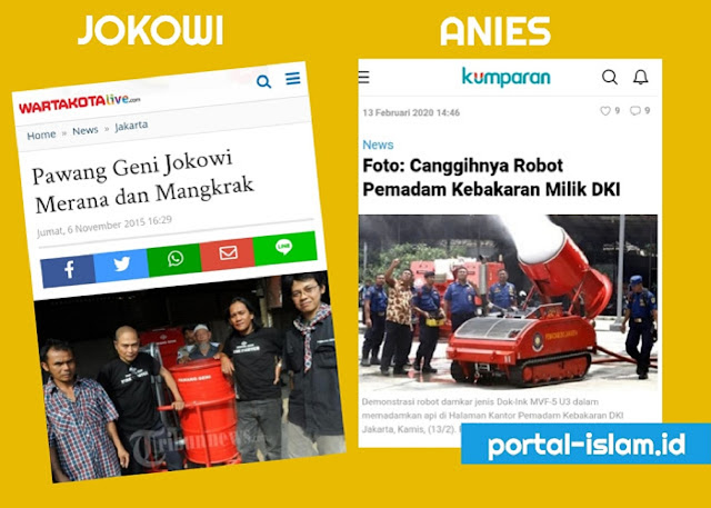 """Netizen Bandingin """"Pawang Geni Jokowi"""" dengan """"Robot Canggih Anies"""""""
