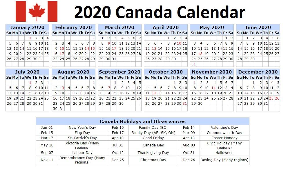 Construction Holidays 2020; the holiday calendar 2020