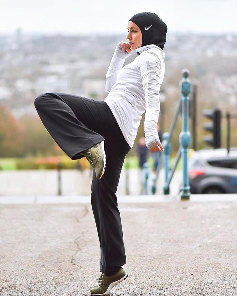 OOTD dan Outfit Kick Boxing untuk cewek Hijab