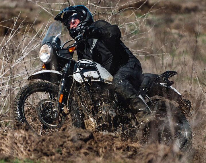 Royal Enfield Himalayan in test ride.