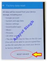 Samsung Galaxy S7 - reset device