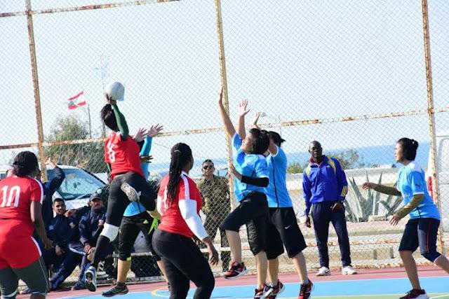 Kontingen Garuda di Lebanon Penyelenggara Kompetisi Bola Tangan