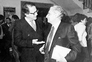 De Felice (right) with his publisher, Vito Laterza