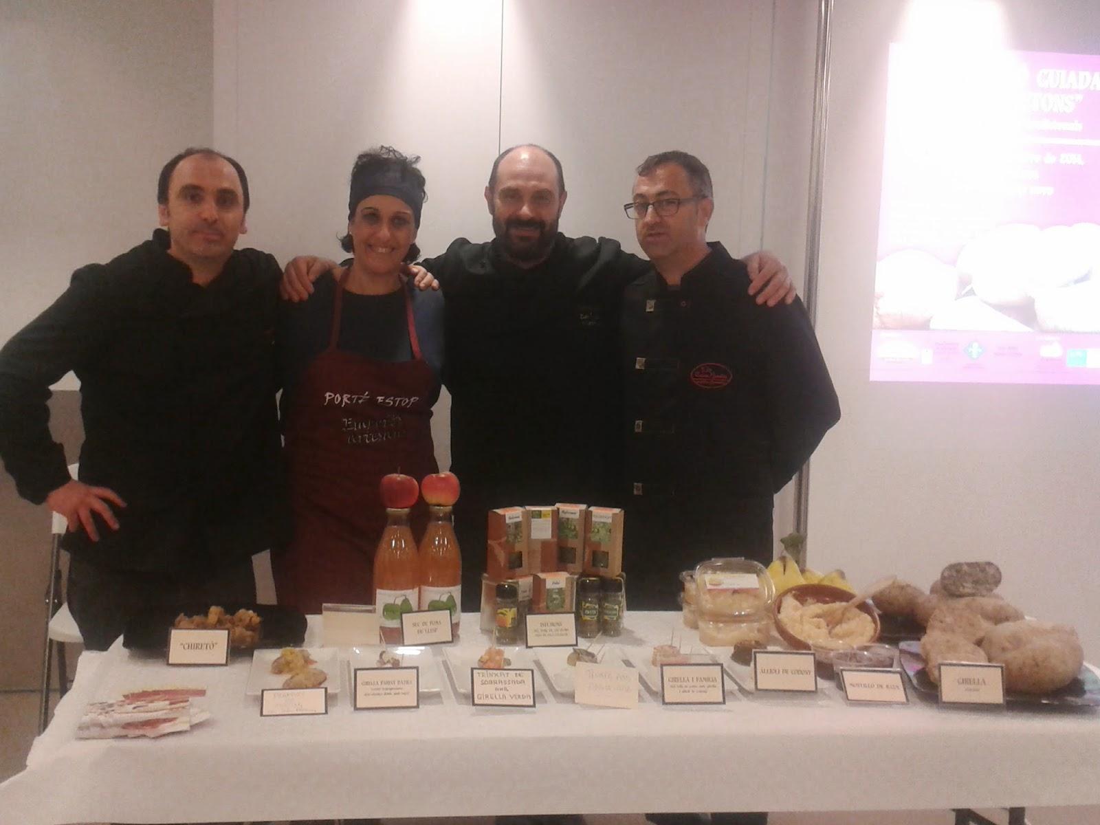 """Degustació guiada de """"Chiretons"""" amb Xesc Reina, Maria Salinas, Jaume Badia i Porté-Estop. 24/10/14"""