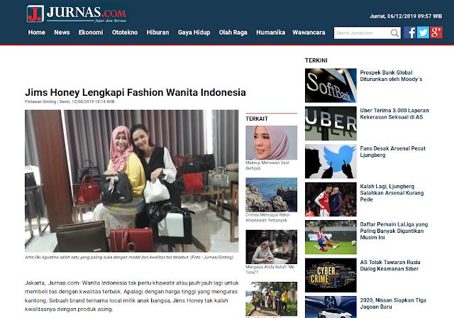 Jims Honey Lengkapi Fashion Wanita Indonesia