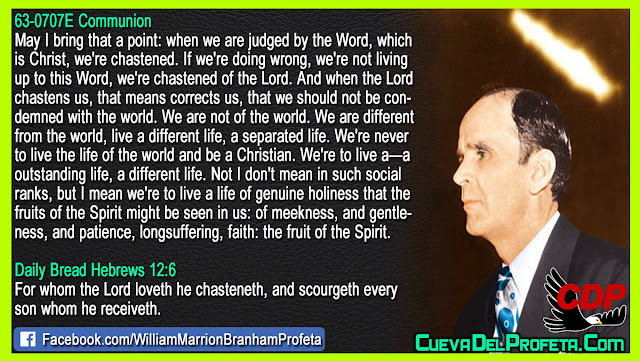 We're never to live the life of the world and be a Christian - William Branham