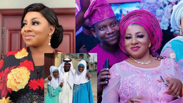 image result Mide Martins and her husband Afeez Owo