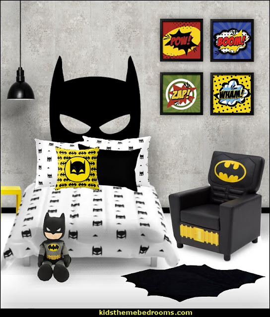 batman bedrooms - batman bedroom decorating ideas -  batman furniture - batman murals - batman wall decals - batman bedding - batmobile bed - Batman room decor - batman pajamas -  batcave DC Comics Batman -  batman comics themed bedrooms -  Batman vs Superman Bedrooms - Superhero bedroom ideas -