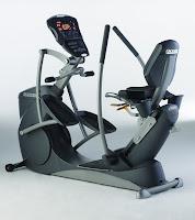 Octane Fitness xR650 Recumbent Elliptical, light commercial recumbent elliptical machine with Power Stroke technology, self-powered,