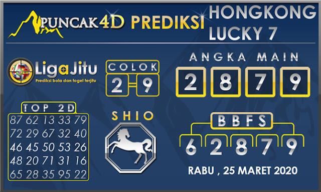 PREDIKSI TOGEL HONGKONG LUCKY7 PUNCAK4D 25 MARET 2020