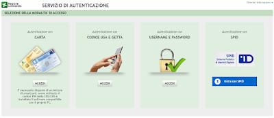 Domiciliazione Bancaria del Bollo Auto - Pagina di Accesso al Portale dei Tributi