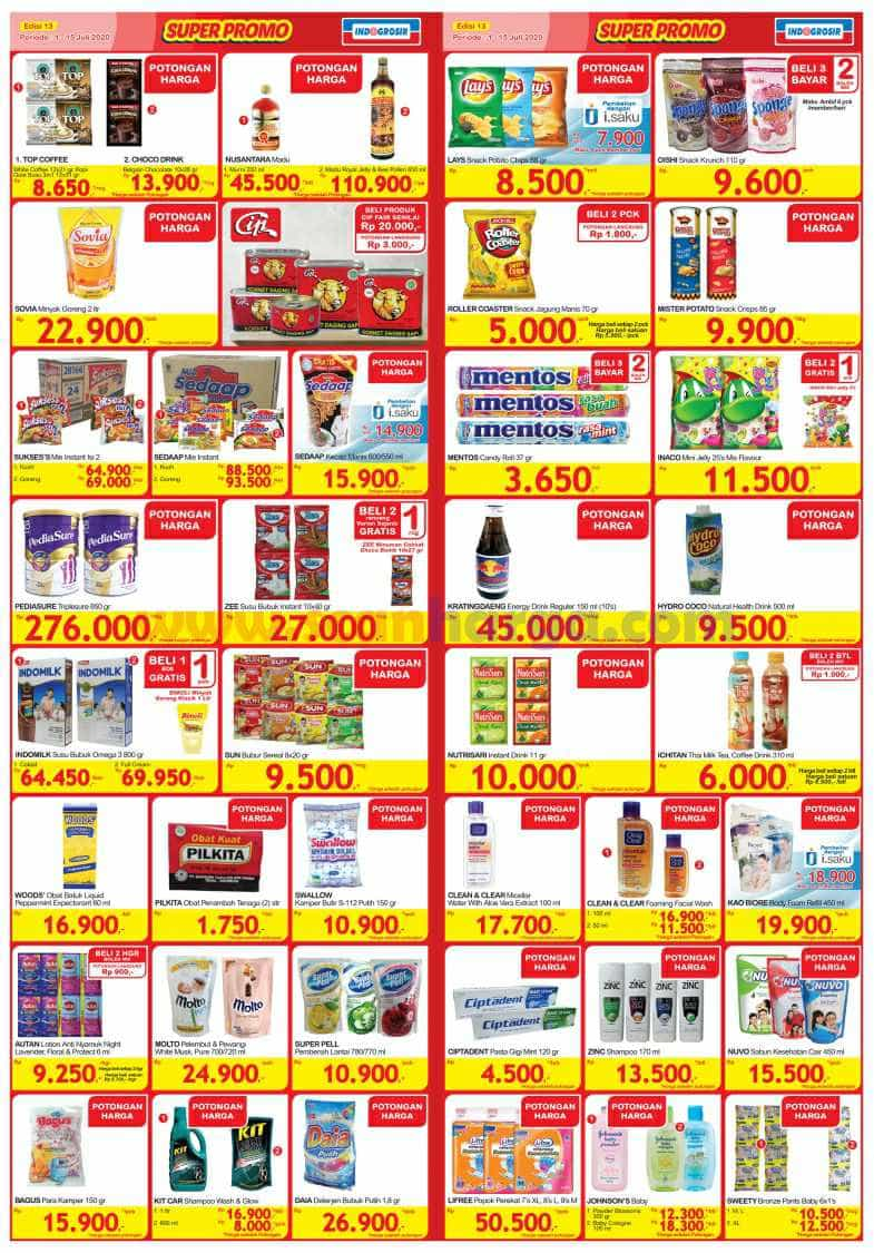 Katalog INDOGROSIR Super Promo Periode 1 - 15 Juli 2020 2