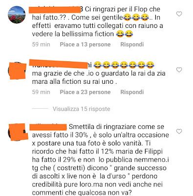 commenti Instagram ascolti flop Barbara D'Urso Live