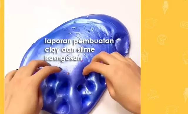 cara membuat clay dan slime