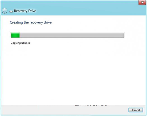 windows 8 recovery drive creation starts now