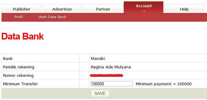 Cara mencairkan uang dari AdsenseCamp