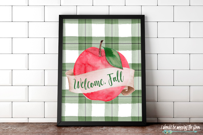 Fall Apple Printable