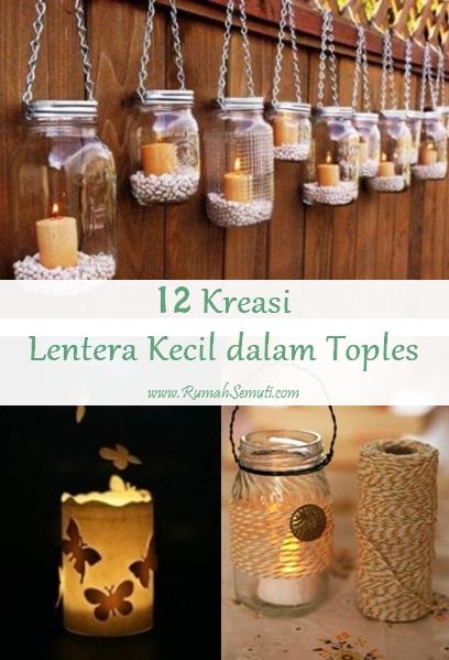 12 Kreasi Lentera Kecil dalam Toples