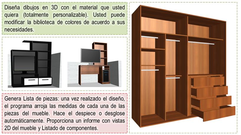Diseño De Muebles Madera: Programa Para Diseñar Y Crear Muebles ...