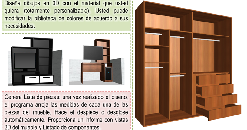 Dise o de muebles madera programa para dise ar y crear for Programa diseno cocinas 3d gratis