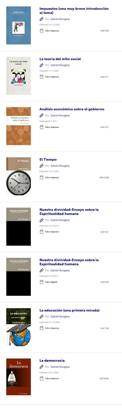 https://www.lulu.com/search?contributor=Gabriel+Boragina