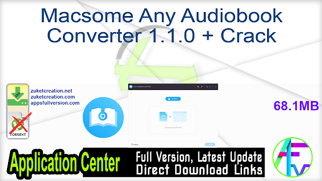 Macsome Any Audiobook Converter 1.1.0 + Crack
