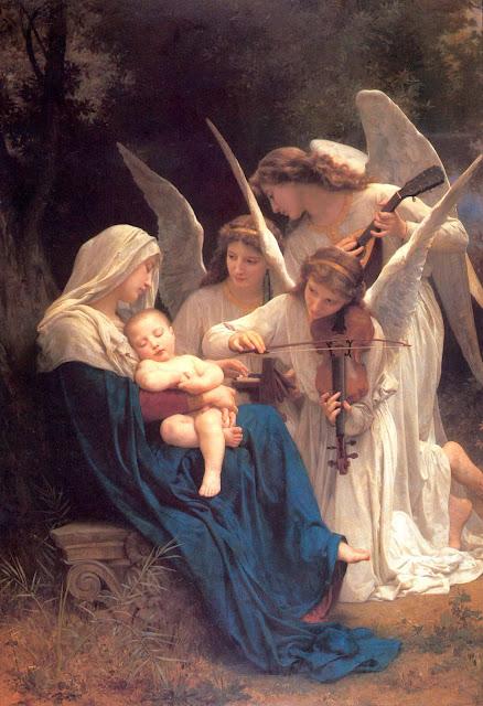 Адольф Вильям Бугро - Мадонна с Младенцем и музицирующими ангелами (1881)