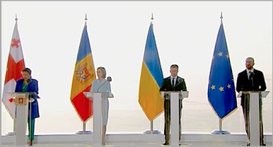 Лидеры Молдовы, Грузии и Украины подписали декларацию о европейской перспективе
