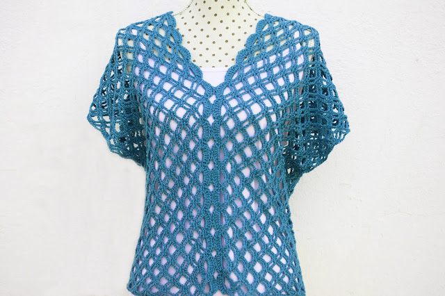 6 - Crochet Imagen Blusa verde de verano a crochet y ganchillo por Majovel Crochet