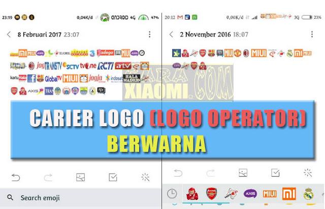 Tutorial Cara Pasang Carrier Logo (Logo Operator) Berwarna Lengkap