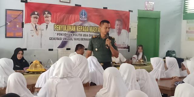 Bentuk Generasi Unggul, Danramil Ulaweng Bekali Pelajar SMPN 1 Mare Ketahanan Nasional