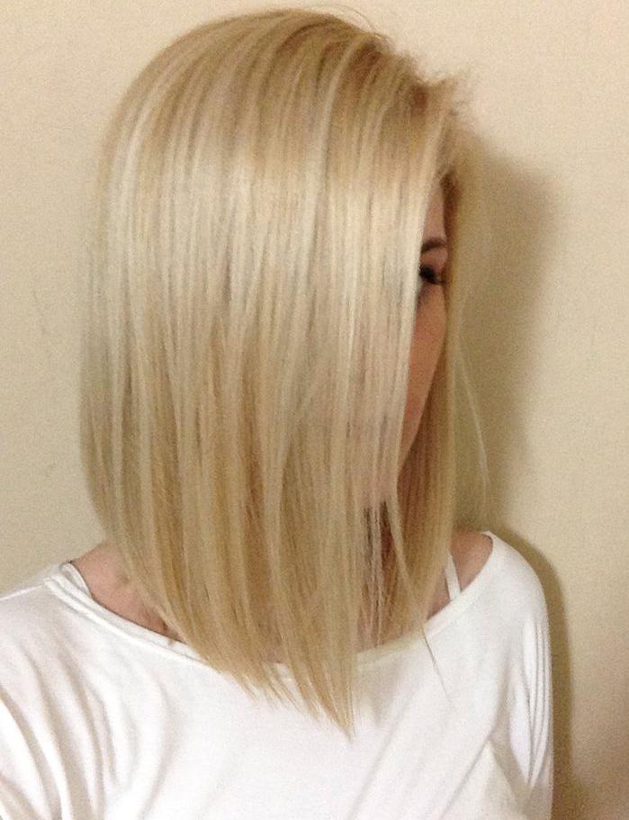 blond, blonde, Long bob - fryzura