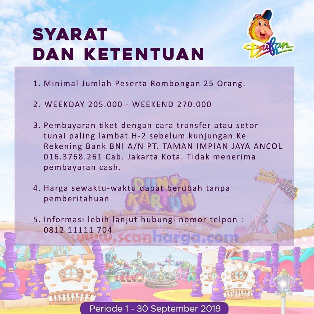 ketentuan Promo Dufan Terbaru September 2019