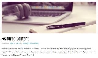 Featured Image di Atas Halaman Postingan Blog