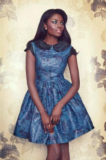 blue short dress ,Ankara ,all Nigerian fashion styles